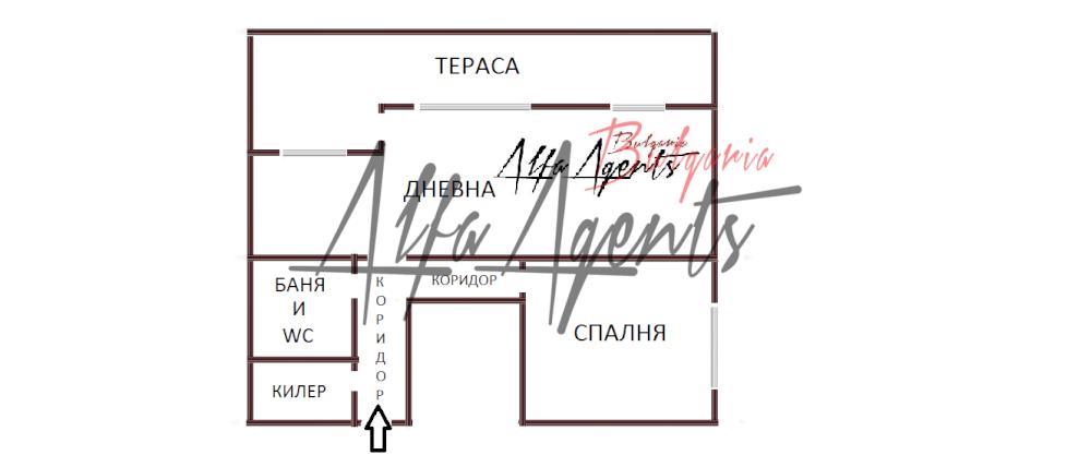 Алфа Агенти недвижими имоти Варна   Двустаен, Кайсиева градина